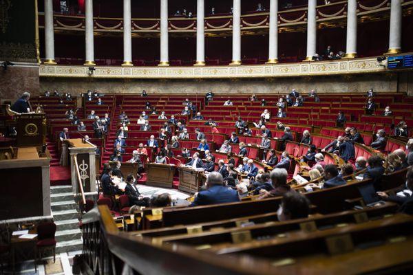 L'hémicycle de l'Assemblée nationale - Mars 2021