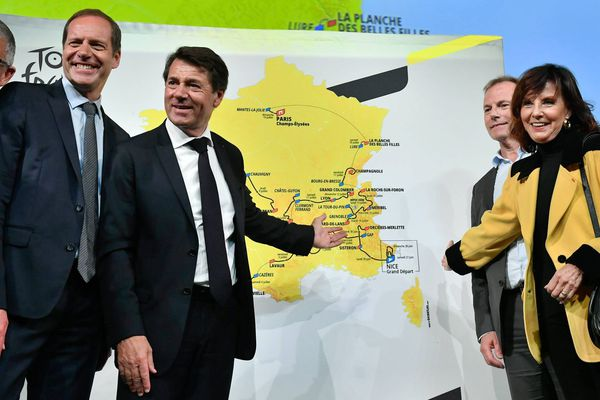 Présentation à Paris du Tour de France 2020 par Christian Prudhomme, directeur du Tour de France.