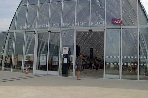 Montpellier - ouverture de la nef de la nouvelle gare SNCF Saint-Roch - 18 juin 2013.