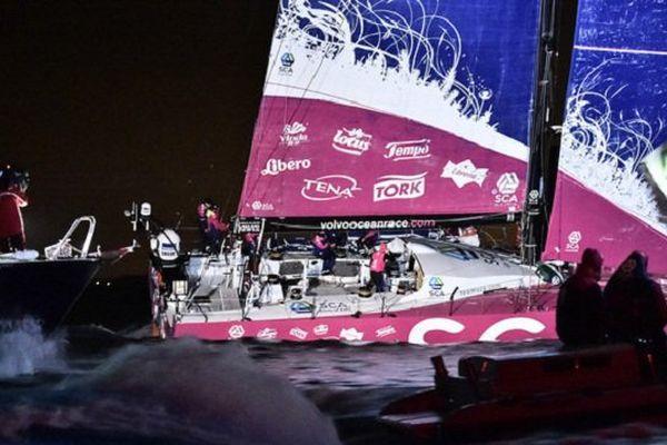 Le monocoque SCA et son équipage féminin l'emporte à Lorient lors de cette 8e étape de la Volvo Ocean Race