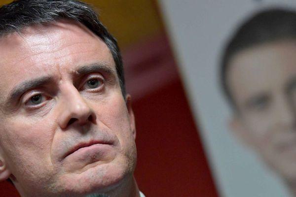 Manuel Valls à Lamballe (22) le 17/01/2017