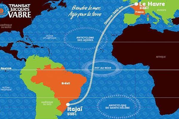 Le parcours de l'épreuve qui retourne pour la seconde fois à Itajai. 5400 mile à parcouris