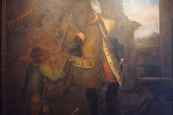 """""""Portrait de Federico Cotoni, Anonyme génois, 1694.  """"L'armée génoise était composée pour moitié de soldats corses. Originaire de l'île, le capitaine Cotoni a été autorisé à lever une centaine d'hommes. Il a ensuite effectué toute sa carrière militaire en Ligurie"""", rapporte Sylvain Gregori."""