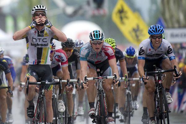 En 2011, Cavendish s'impose à Lavaur au sprint devant Greippel et Tyler Farrar.