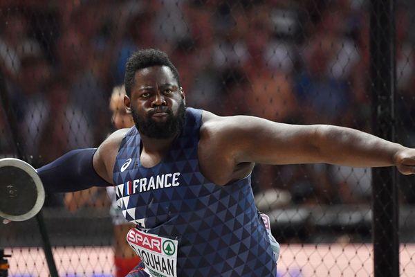 Lolassonn Djouhan lors des championnats d'Europe d'athlétisme 2018, à Berlin