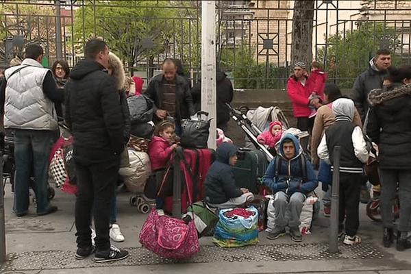 Les 117 albanais avaient été délogés, fin mars, d'un autre square lyonnais.