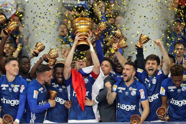 Les Strasbourgeois ont remporté leur troisième Coupe de la Ligue, en trois finales disputées
