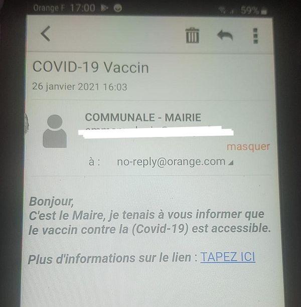 Mail frauduleux reçu par les habitants de Digne-Les-Bains