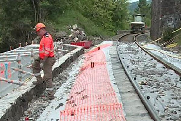 La circulation des trains entre Alès et Langogne est interrompue jusqu'à fin juin pour cause de travaux.
