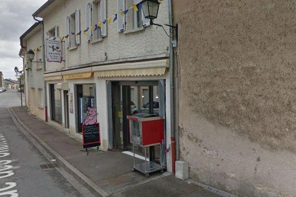 "La boucherie ""Au fumet lorrain"" à Cattenom (Moselle)."