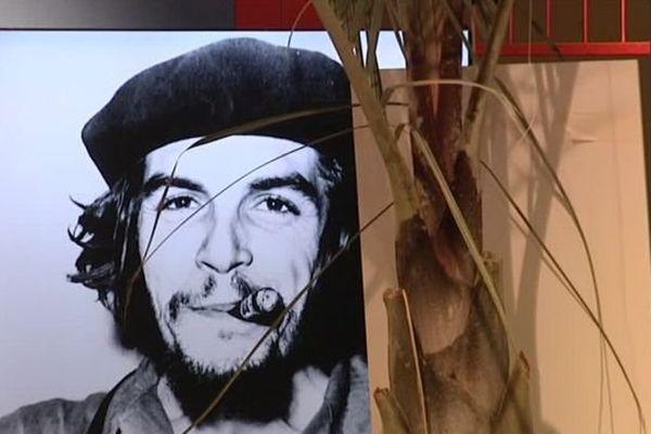 Un portrait de Che Guevara à la foire internationale de Montpellier à l'accent cubain - octobre 2016