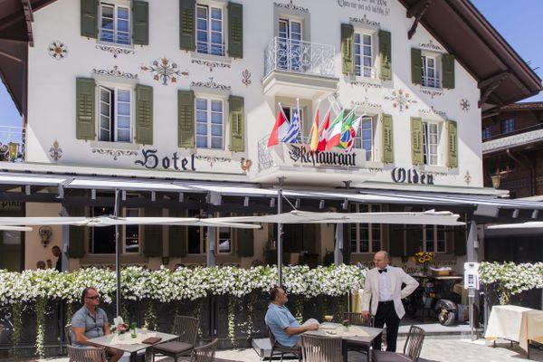 Un hôtel à Gstaad, en Suisse.