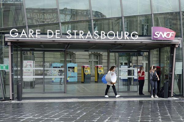La gare de Strasbourg (Bas-Rhin).