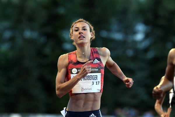 Ophélie Boxberger au meeting national d'athlétisme de Belfort-Montbéliard le 01 juin 2018