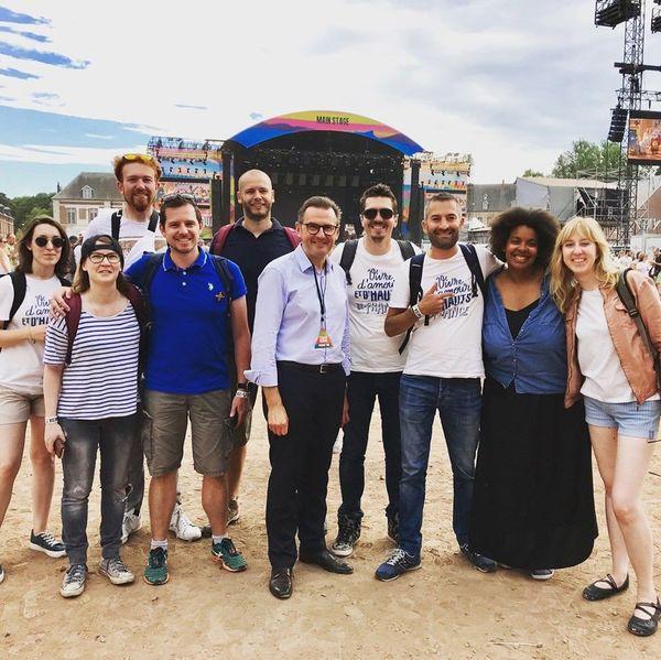 Le collectif #Blogueurs des Hauts-de-France lors du Main Square Festival d'Arras.