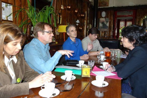 Michèle Rivasi a rencontré des syndicalistes de la CGT et de la CFE-CGC pour s'enquérir de la situation d'Alstom
