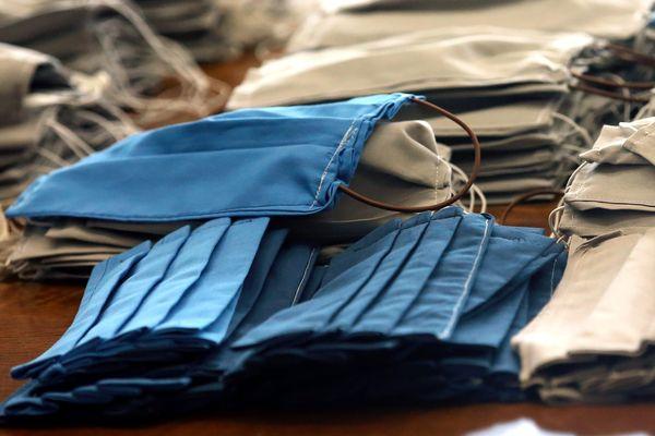 Des masques en tissus seront distribués dans les différentes villes de la région Centre-Val-de-Loire