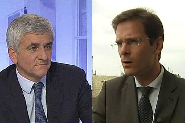 Hervé Mroin, député UDI de l'Eure, et Nicolas Mayer-Rossignoln, président de Haute-Normandie: le duel des régionales 2015 ?
