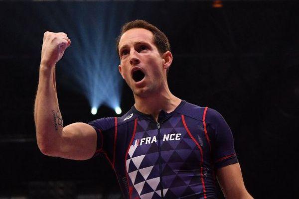 En Pologne le 8 juin, Renaud Lavillenie a passé 5,91 m au deuxième essai. Photo : 04/03/2018