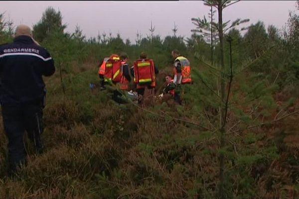 plus de 80 personnes étaient mobilisées ce jeudi pour un exercice de sécurité en forêt d'Ecouves