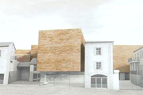 Céret (Pyrénées-Orientales) - le futur musée - janvier 2019.