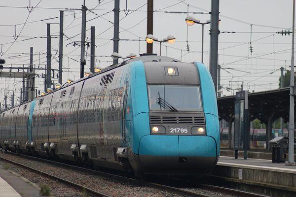 Un TER Pays de la Loire, le 2 juillet 2017.