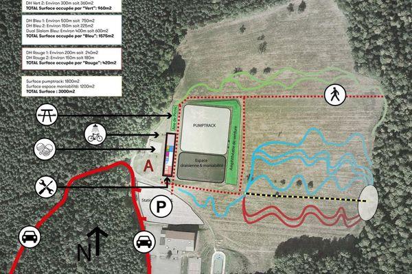 Le plan officiel du projet de trail center