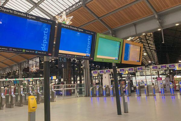 Les quais des trains normands à la gare Saint-Lazare seront très calmes le jour de Noël
