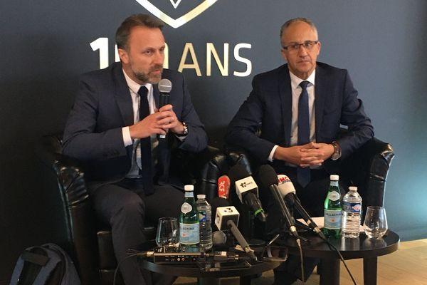 Saïd Chabane, Président du SCO Angers et Fabrice Favetto-Bon, nommé Président délégué du club, le 9 mars 2020