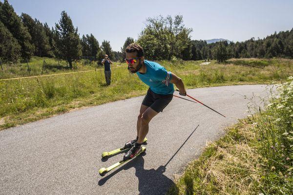 Martin Fourcade à l'entraînement au CREPS de Font-Romeu le 18 juillet 2018.
