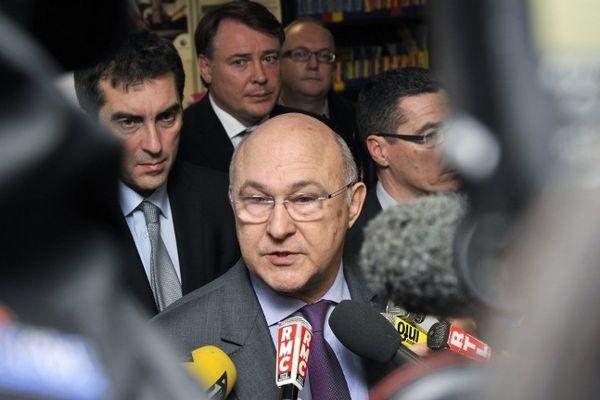 Michel Sapin à Nantes, le 12 février 2013