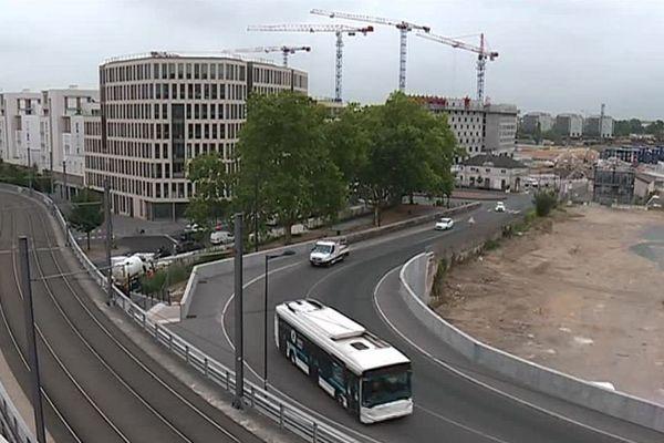 Vue du quartier Belcier, derrière la gare Saint Jean, en pleine métamorphose.