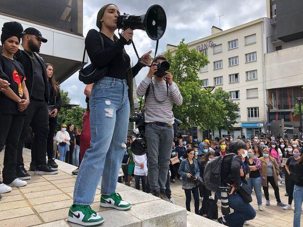 Manifestation contre les violences policières à Nantes, le 8 juin 2020