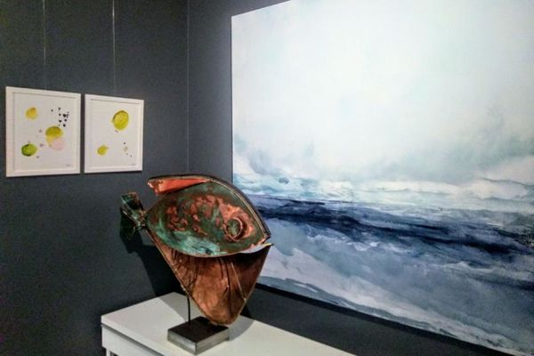 Quelques-unes des oeuvres présentées à la galerie Béatrice Wolff