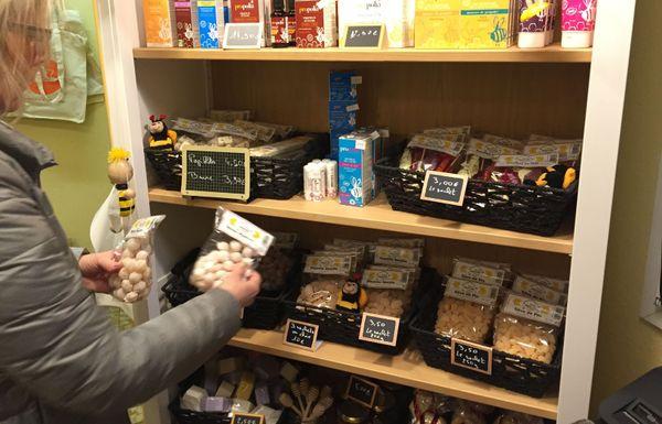 Leur toute nouvelle boutique, à la ferme, de produits fabriqués avec du miel