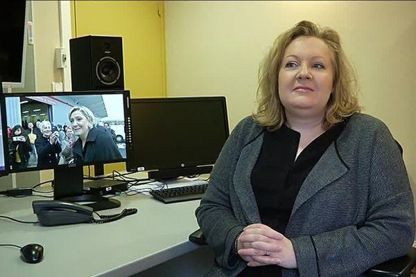 Sophie Montel, présidente du groupe FN à la région Bourgogne - Franche-Comté
