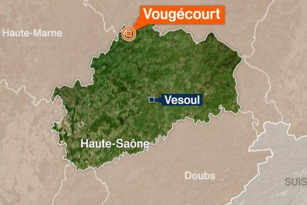 Vougécourt se situe à la frontière de la Haute-Saône.