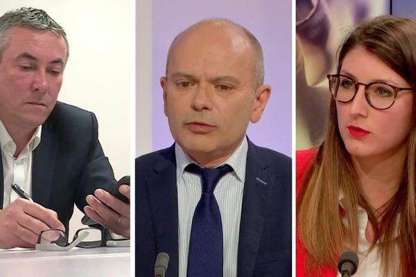 Jean-Louis Louvel, Jean-François Bures et Marine Caron
