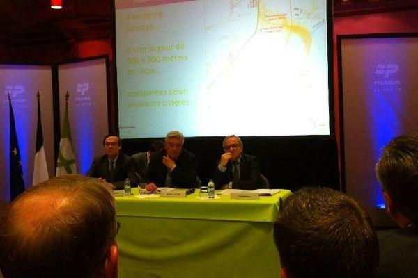 Le 30 avril dernier, le ministre des transports, Frédéric Cuvillier, était en visite à Amiens pour soutenir le projet du barreau Creil-Roissy.