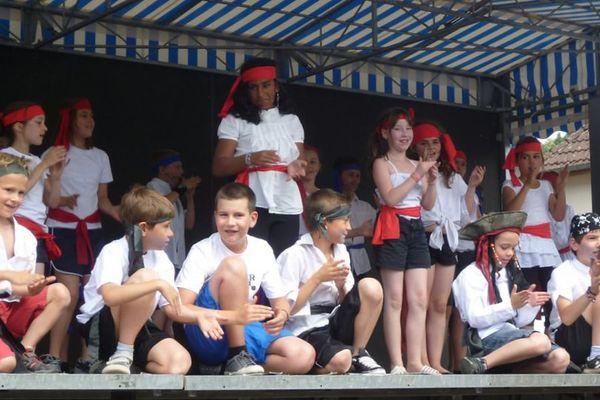 Une kermesse de fin d'année en 2014 dans les Vosges