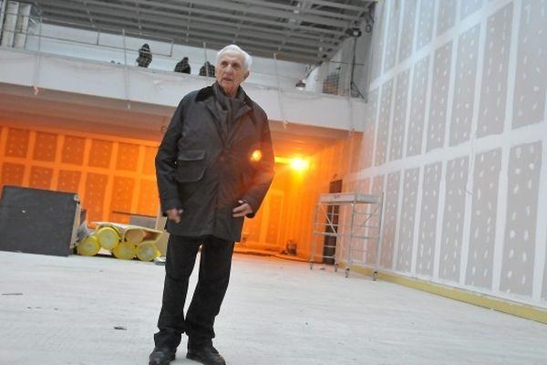 Pierre Soulages ce mardi sur le chantier de son musée à Rodez