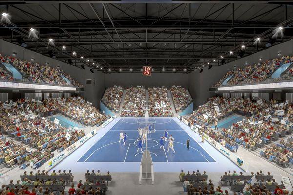 Images de synthèse de la future salle arena