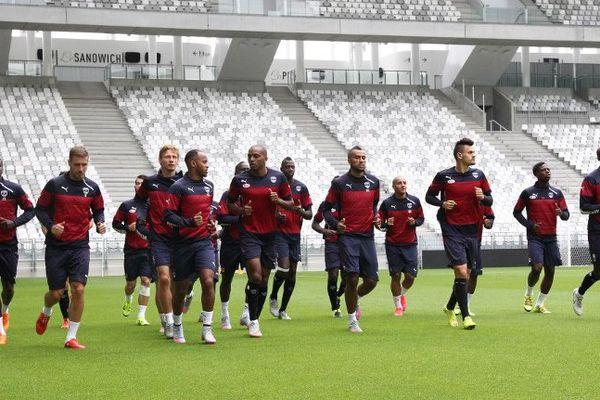 Les Girondins à l'entrainement le 29 juillet 2014 avant leur match contre les chypriotes de Larnaca.