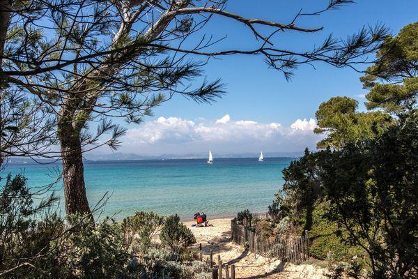 Une plage de l'île de Porquerolles, dans le Var.