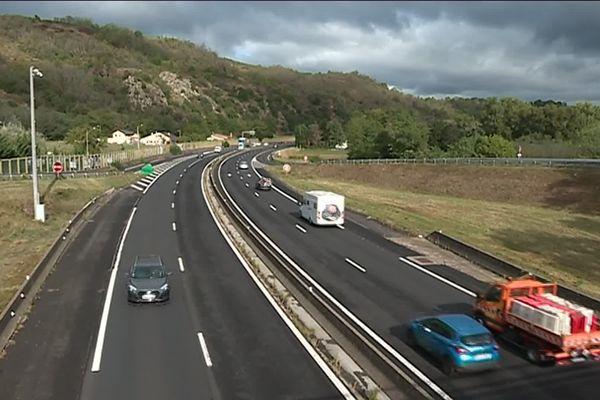 L'autoroute A75 sera en chantier sur 4 kilomètres du lundi 7 au vendredi 18 octobre. Image de Laurence Couvrand