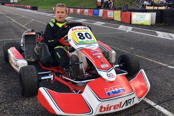 Jolan Raccamier, originaire de Beauzac, en Haute-Loire, a été sacré champion du monde de karting en Italie en octobre dernier.