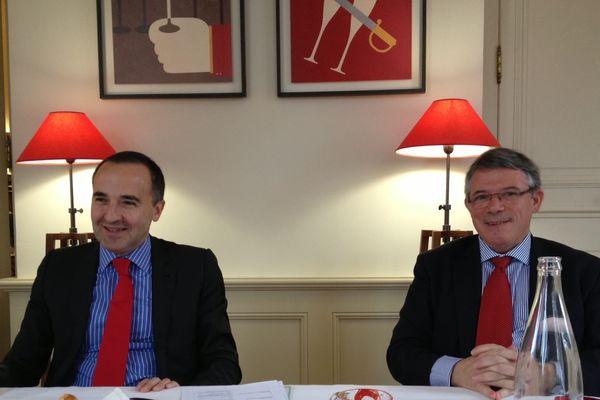 De gauche à droite sur cette photo, le nouveau PDG de Mumm et Perrier-Jouët, Philippe Guetta, et Michel Letter, Directeur Général Adjoint.