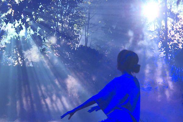 Plusieurs tableaux se succèderont, entre musique, bruitages et danse, dans un décor de forêt, et ce durant... 35h34.