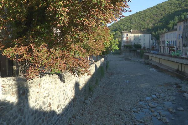Valleraugue (Gard) - le fleuve est ses berges - septembre 2021.