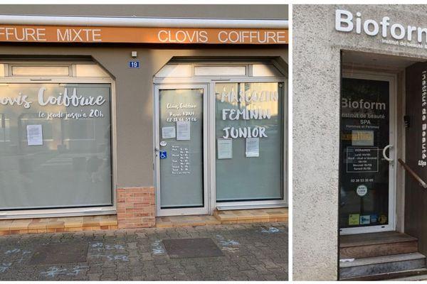 Salon de coiffure et institut de beauté fermés
